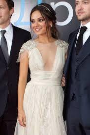 mila kunis wedding dress