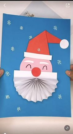 Christmas Art For Kids, Unique Christmas Cards, Easy Christmas Decorations, Christmas Card Crafts, Christmas Cards To Make, Christmas Activities, Handmade Christmas, Eid Crafts, Paper Crafts