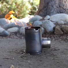 Make a camping stove from tin cans survival videos, survival hacks, survival guide, Survival Videos, Survival Tips, Survival Skills, Camping Survival, Camping Hacks, Rocket Stoves, Diy Rocket Stove, Camping Stove, Simple Life Hacks
