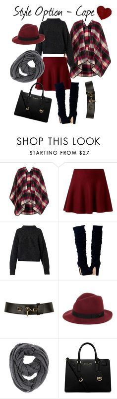 How to style a Cape by stylebycharlene on Polyvore featuring Isabel Marant, Topshop, Michael Kors, Paula Bianco, Sole Society and Carven