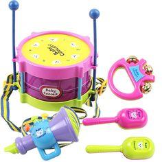 5 adet/takım Sıcak Bebek Oyuncaklar El Davul Yendi Çıngıraklar Eğitici Çocuk Oyuncak Çocuk Çıngırak Yenidoğan Bebek Hediye Toptan için