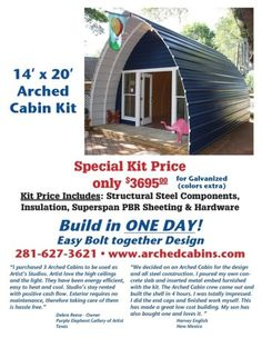 Ein günstiges Cabin Kit – Thehomesteadingbo … - Home design ideas Home Design, Tiny House Design, Design Ideas, Interior Design, Cabin Plans, Shed Plans, Cabana, Arched Cabin, Prefab Cabins