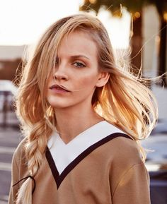 """Ginta Lapina in """"Lost In L.A."""" by Heather Favell for Glamour France, February 2015"""