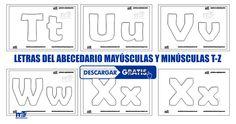 LETRAS DEL ABECEDARIO MAYUSCULAS Y MINUSCULAS T-Z