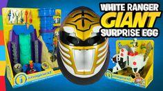 White Power Ranger Toys Giant Surprise Egg with Imaginext Power Rangers ...