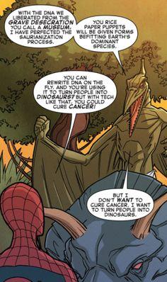 Contemplating Comics #1 Spider-Man and the X-Men, written by Elliott Kalan, art by Marco Failla Super-Villain Motavations