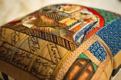 Tahmineh Comes to Rostam, Shahnama, India. Embroidered Cushions, Illuminated Manuscript, Old World, Persian, Initials, Miniatures, Museum, Quilts, Stitch