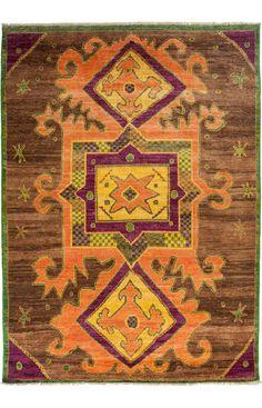 Darya Rugs Kaitag Ayesha Green Rug | Southwestern Rugs #RugsUSA