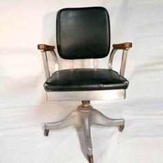 Vintage Office Chair Aluminum