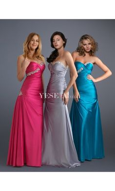 Sexy A Line Strapless Sweetheart Empire Floor-Length Long Evening Prom Dresses with Beads US $154.59