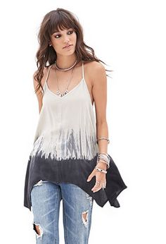 Dip Dyed Trapeze Cami | FOREVER21 - 2000101729