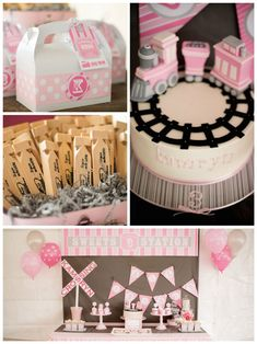 Girly Train themed birthday party
