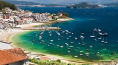 Sanxenxo is a municipality in Galicia, Spain in the province of Pontevedra. It is a popular tourism destination. Sanxenxo is widely regarded as the best and certainly the most exclusive beach resort in Galicia.