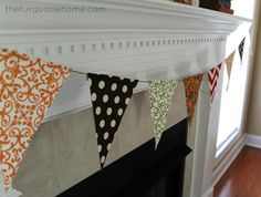 {DIY} No-Sew Bunting Tutorial - The Turquoise Home