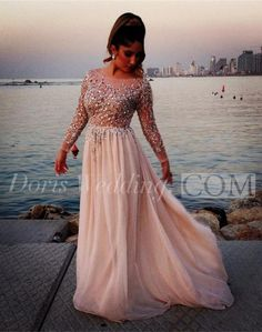 US$111.55-Glamorous Long Sleeve  Long Chiffon Beaded Prom Dresses 2016. http://www.doriswedding.com/glamorous-long-sleeve-beadings-prom-dresses-2016-long-chiffon-p318960.html. Find the best prom dress for any occasion at doriswedding.com!! www.doriswedding.com has all the styles of prom dress, maxi dress, plus size dress, little black dress sequin dress for your party perfect look! #DorisWedding.com