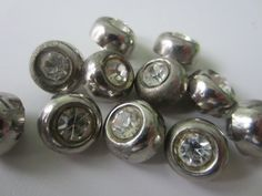 Vintage Buttons 11 matching metalized acrylic by pillowtalkswf, $6.95