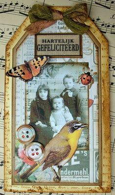 Heritage Photo Tag ~ A great page embellishment idea!