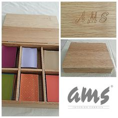 Box with faux leather samples     by ams