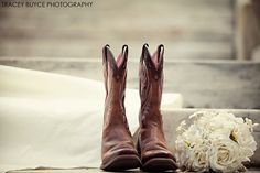 Wedding photography ideas~ Boots, and Bride!