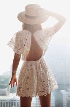 Zimmermann hydra broidery flutter playsuit in white from revolveclothing.com