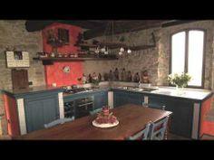 La cucina rustica in muratura di Zaccaria Monguzzi