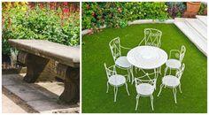 Gartenmöbel aus Stein & Metall passen ideal in den Barockgarten Outdoor Furniture Sets, Outdoor Decor, Blog, Home Decor, Water Games, Baroque, Pretty Pictures, Artworks, Stone
