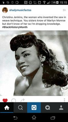 Christina Jenkins invented of the Sew -In Method..#BlackHistoryMonth