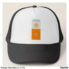 Orange Juice Box Trucker Hat - Urban Hunter Fisher Farmer Redneck Hats By Talented Fashion And Graphic Designers - #hats #truckerhat #mensfashion #apparel #shopping #bargain #sale #outfit #stylish #cool #graphicdesign #trendy #fashion #design #fashiondesign #designer #fashiondesigner #style