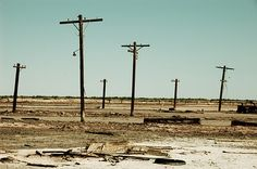 The Salton Sea, California. Used to be a tourist destination but now everything is abandoned due to environmental issues.