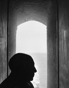 Picasso in Antibes by Denise Colomb, 1952