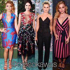 Mosokawas Look: Best Dressed Red Carpet @teenchoicefox Awards 2016! Photos: 1- @therealsarahhyland; 2- @shelleyhennig wearing @marchesafashion; 3- @chelseakane; 4- @chloegmoretz wearing @marcjacobs #mosokawas #lookdodia #lookoftheday #moda #estilo #style #fashion #pinterest #ootd #outfit #outfitoftheday #ootdshare #todaysoutfit #stylish #photooftheday #teenchoiceawards #teenchoiceawards2016 #chelseakane #redcarpet #teenchoice #chloegmoretz #marcjacobs #marchesa #shelleyhennig #sarahhyland
