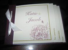 Custom booklet wedding invitation. Again PixelsandCreme on Etsy.com  ( link --> www.etsy.com/shop/PixelsandCreme