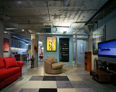 modern media room by Paul Welschmeyer ARCHITECTS & energy consultants