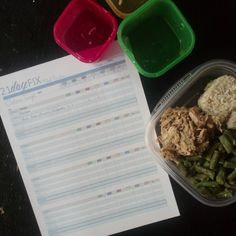 This is my ACTUAL grocery list and meal plan for a week of 21 Day Fix eating. Feeds a family of 5 for under $100.