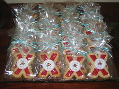 Pirate - just x cookies with pirate sticker on the outside of the bag - easy and fun