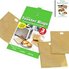 ekSel Non Stick Reusable Toaster Bags, Pack of 3
