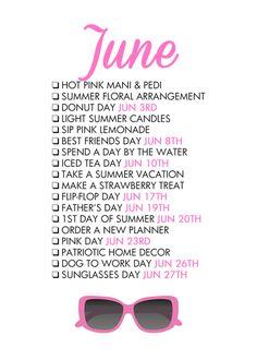 Glam June free printable from @paperandglam! shop.paperandglam.com