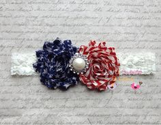 Vintage american flag 4th of July headband by MyLilSweetieBoutique, $10.95