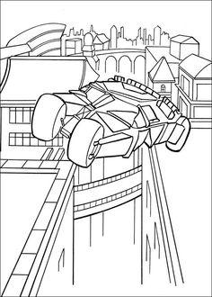 Batman Fargelegging for barn. Tegninger for utskrift og fargelegging nº 13