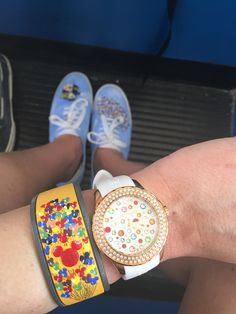 Painted Disney Magic Band & Painted Keds. UP inspired, balloons, DIY, design