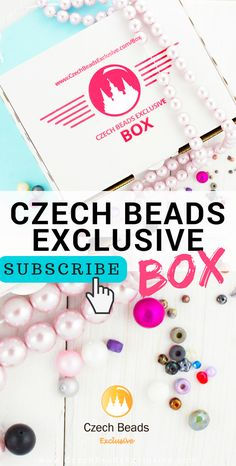Monthly CzechBeadsExclusive Box Subscription is finally here! | SAVE it!| www.CzechBeadsExclusive.com #czechbeadsexcluisve #czechbeads