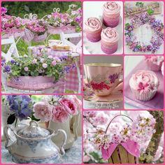 Collage by Miss Lily Bliss Collages, Mood Colors, Color Collage, Beautiful Collage, Creation Deco, Colour Pallette, All Nature, Everything Pink, Tea Roses