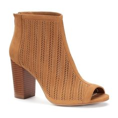 Apt. 9® Women's Cutout High Heel Ankle Boots, Size: