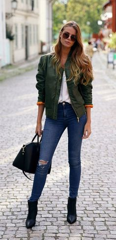 Fall Outfits | Bomber outfit