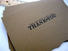 Kraft Thank You Cards