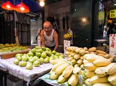 Fruit seller in Hong Kong