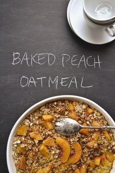 Baked Peach Oatmeal.