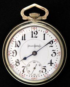 Antique Illinois Bunn Special Railroad Pocket Watch 18s 21j c1905 #Illinois