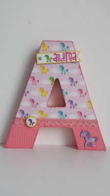 Scrap ble: DT Call Anita y su mundo Initial Decor, Decoupage, Letter A Crafts, Baby Scrapbook, Wood Letters, Leather Tooling, 3 D, Decorated Letters, Lettering