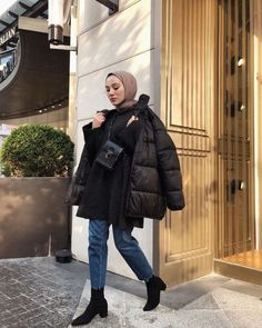 Muslim Fashion, Modest Fashion, Hijab Fashion, Modest Outfits, Cute Casual Outfits, Girl Outfits, Hijab Outfit, Winter Fashion Outfits, Aesthetic Clothes